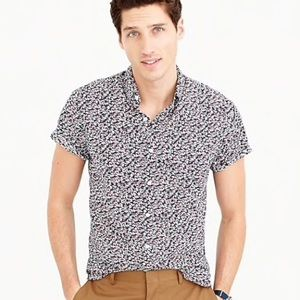 J. Crew short-sleeve shirt floral print S